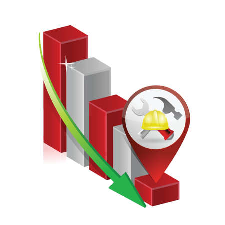 failure in business construction illustration design over white Stock Vector - 18806076