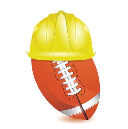 football training. under construction illustration design over white Stock Vector - 18806082