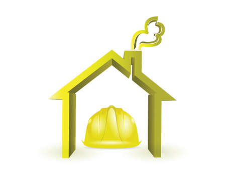 craftman: home under construction illustration design over white Illustration