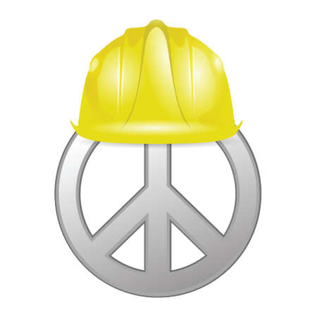 peace under construction illustration design over white