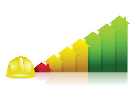 construction real estate business graph chart illustration design over white Stock Vector - 18806008