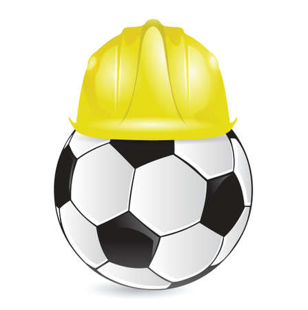 soccer training construction illustration design over a white background Çizim