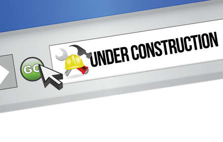 online browser under construction illustration design over a white background Stock Vector - 18806021