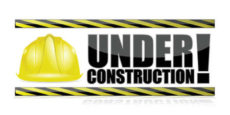 under construction illustration design over a white background Vector