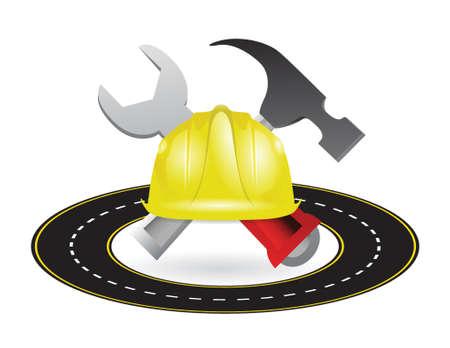 highway road construction illustration design construction illustration design over a white background Stock Vector - 18806069