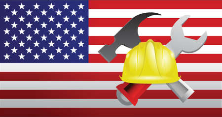 USA construction illustration design over a white background