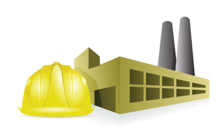 mine site: factory construction illustration design over a white background