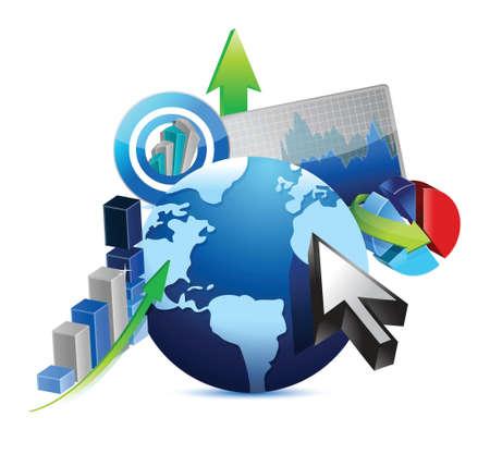 international money: international business concept illustration design over a white background