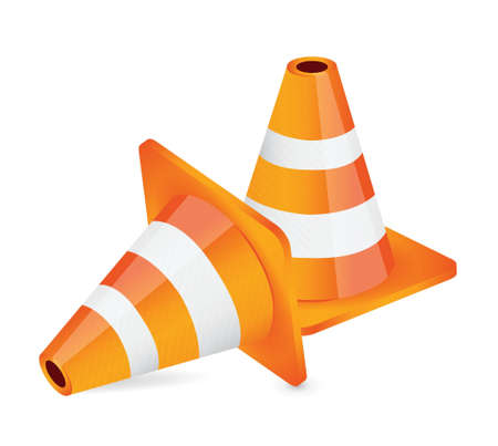 construction: construction cone illustration design over a white background