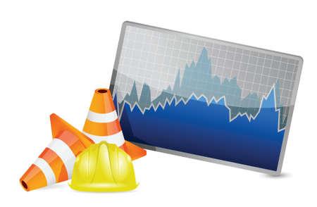 stock market barrier of protection illustration design over white Stock Vector - 18806114