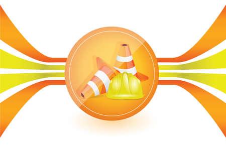 under construction illustration design graphic over a white background