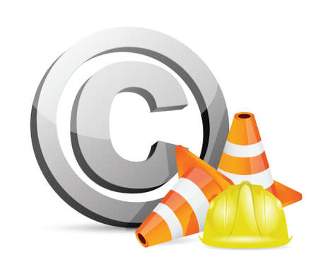 site: copyright protection barrier concept illustration design over a white background Illustration