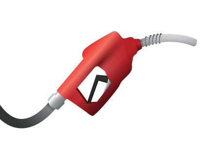 dispenser: gas pump handle illustration design over a white background