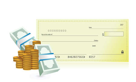 checkbook: checkbook and business profits illustration design over a white background Illustration