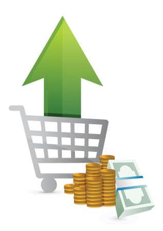 shopping sales up. concept illustration design over a white background design Stock Vector - 18857703