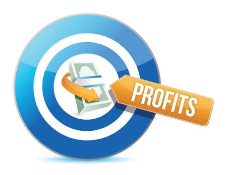way bill: target profits. concept illustration design over a white background