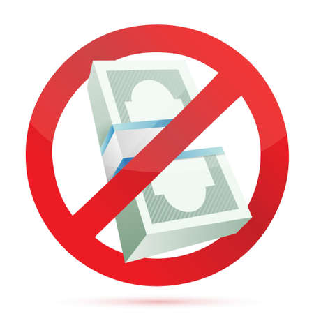 rejected: cash rejected concept illustration design over a white background