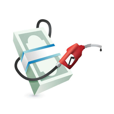 gas prices concept illustration design over a white background Ilustracja