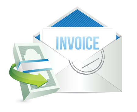 invoice: invoice payment concept illustration design over a white background