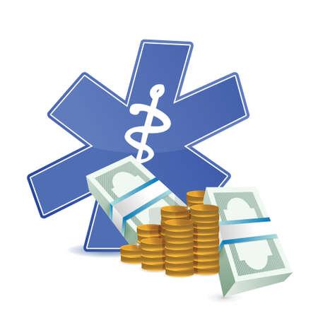 medical expenses: medical expenses illustration design over a white background Illustration