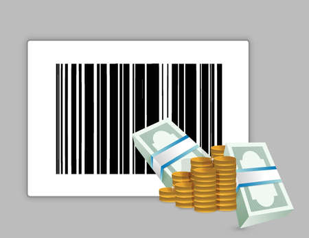 barcode product price illustration design over a grey background Vector