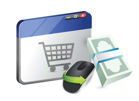 computer equipment: online purchase Wireless computer mouse isolated on white background