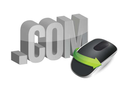 online Wireless computer mouse isolated on white background