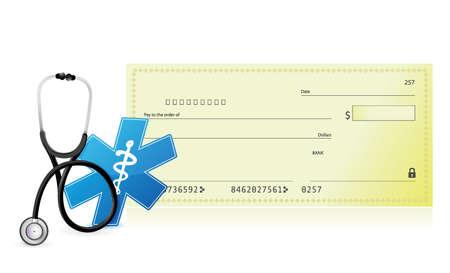 medical expenses: medical expenses concept illustration design over a white background