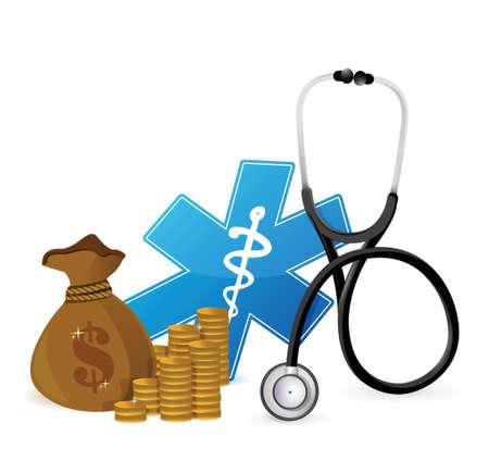 medical expenses: medical expenses concept illustration design over white