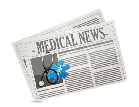 medical news concept illustration design over a white background