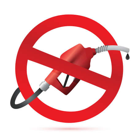 rejected: rejected sign with a gas pump nozzle illustration design over a white background