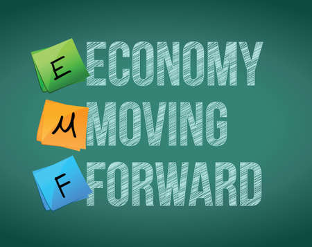 economy moving forward illustration design over a white background Illusztráció