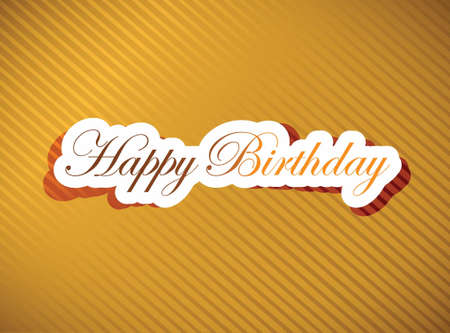 happy birthday card illustration design over a white background Reklamní fotografie - 19139366