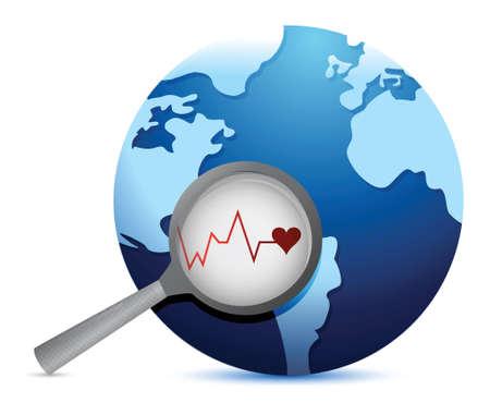 earth lifeline illustration design over a white background Stock Vector - 19139364