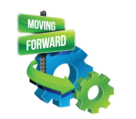 move forward: moving forward illustration design over a white background