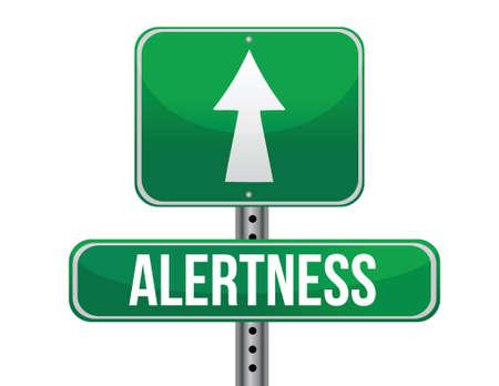 previews: alertness road sign illustration design over a white background