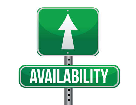 availability road sign illustration design over a white background