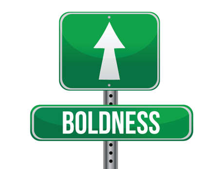boldness: boldness road sign illustration design over a white background