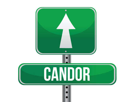previews: candor road sign illustration design over a white background