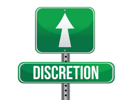 discretion: discretion road sign illustration design over a white background