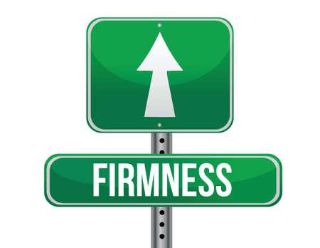 firmeza: signo firmeza carretera diseño ilustración sobre un fondo blanco