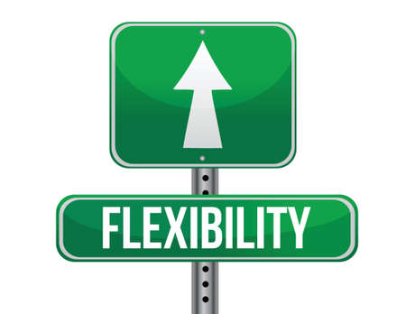 flexibility: flexibility road sign illustration design over a white background Illustration
