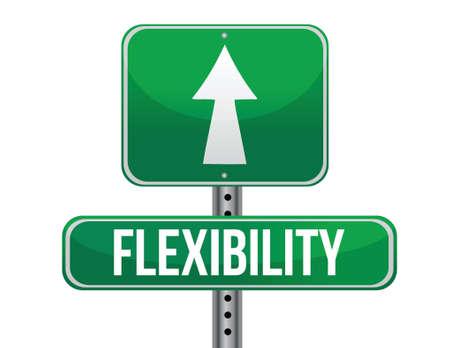 flexibility: flexibility road sign illustration design over a white background Illustration