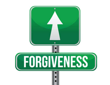 forgiveness road sign illustration design over a white background
