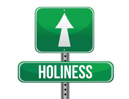 previews: holiness road sign illustration design over a white background