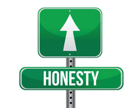 previews: honesty road sign illustration design over a white background Illustration
