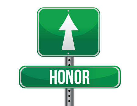 previews: honor road sign illustration design over a white background