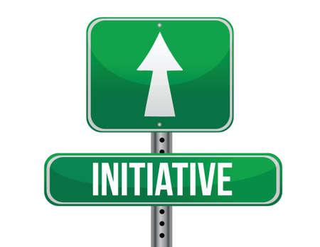 initiative: initiative road sign