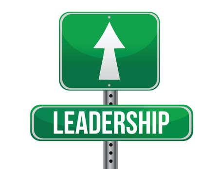previews: leadership road sign illustration design over a white background Illustration