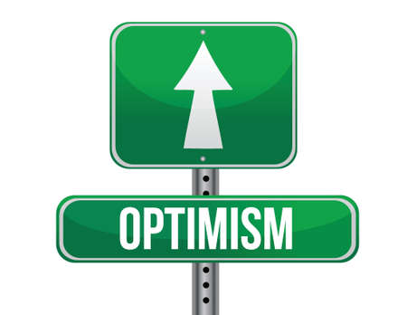 optimist: optimist road sign illustration design over a white background